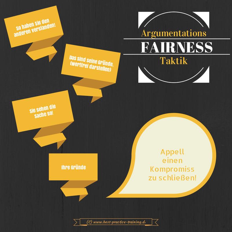 Argumentationstechnik Fairness